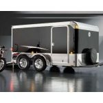 : Enclosed motorcycle trailer with enclosed trailer accessories with mini cargo trailer with motorcycle trailer rental