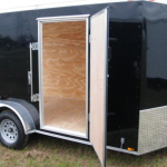 : Enclosed motorcycle trailer with foldable motorcycle trailer with low profile enclosed trailer