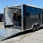 : Enclosed motorcycle trailer with folding motorcycle trailer with snowmobile trailers