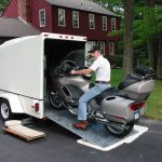 : Enclosed motorcycle trailer with pull behind motorcycle trailer with small cargo trailers