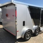 : Enclosed motorcycle trailer with small utility trailer with enclosed race car trailers
