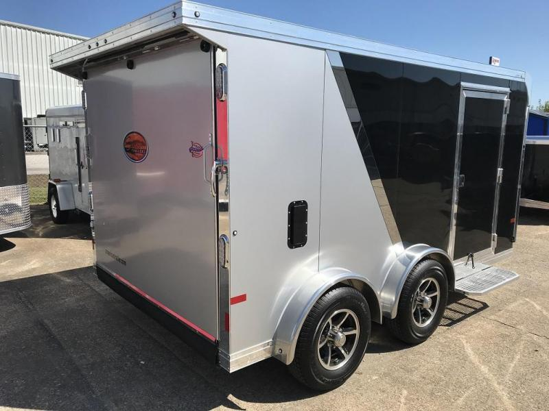 Enclosed motorcycle trailer with small utility trailer with enclosed race car trailers