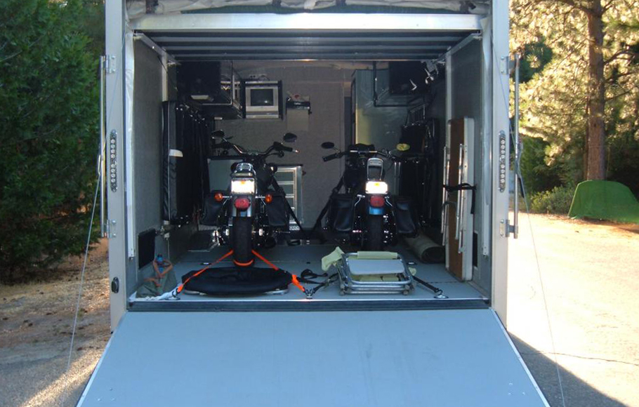 Enclosed motorcycle trailer with utility trailer manufacturers with enclosed trailer door