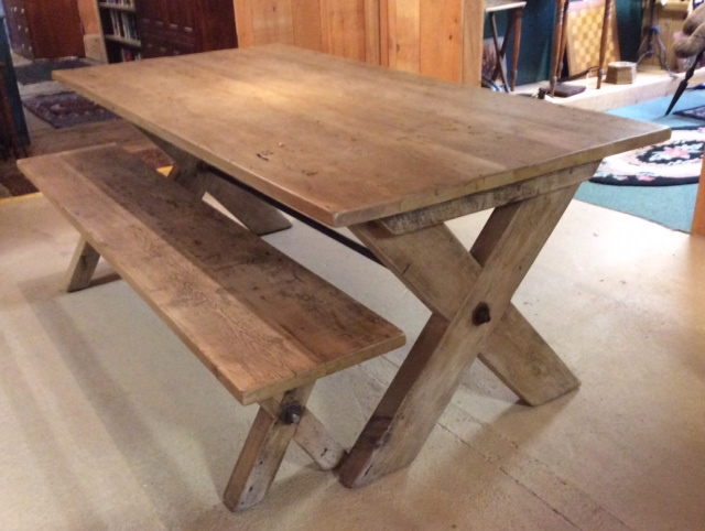 Farmhouse tables be equipped reclaimed farm table be equipped tall farm table