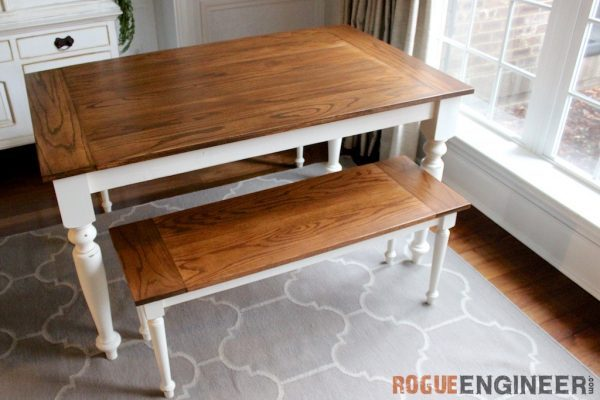 Farmhouse tables be equipped small farm table with bench be equipped farmhouse dining furniture