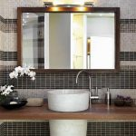 : Framed Bathroom Mirrors also bathroom sink mirror also frame existing bathroom mirror also decorative mirror