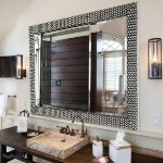 : Framed Bathroom Mirrors also beveled framed mirror bathroom also unusual mirrors also bathroom glass mirror