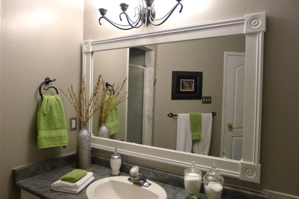 Framed Bathroom Mirrors also decorative bathroom mirrors also white bathroom mirror