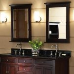 : Framed Bathroom Mirrors also double vanity mirrors for bathroom also bathroom mirror cabinet