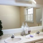: Framed Bathroom Mirrors also espresso bathroom mirror also white wood bathroom mirror