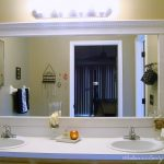 : Framed Bathroom Mirrors also large bath mirror also luxury bathroom mirrors also white framed bathroom wall mirror