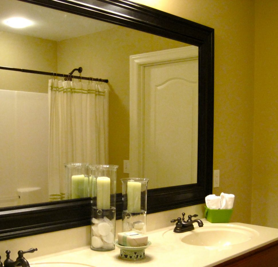 Framed Bathroom Mirrors Also Large Decorative Mirrors Also Black Wall Mirror Also Unique Mirrors Framed Bathroom Mirrors 2 Or 1 Inspiration Home Magazine