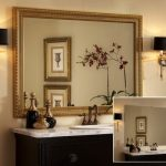 : Framed Bathroom Mirrors also modern bathroom mirrors also bathroom mirror lights