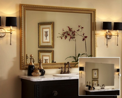 Framed Bathroom Mirrors also modern bathroom mirrors also bathroom mirror lights