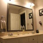 : Framed Bathroom Mirrors also small bathroom mirror with lights also frame your own mirror also large mirror in bathroom