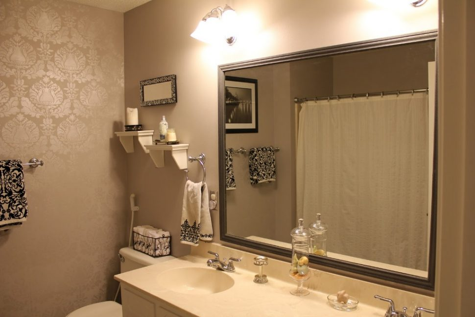 Framed Bathroom Mirrors also wall mounted mirror also stick on mirror frame also large framed wall mirrors