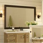 : Framed Bathroom Mirrors also wood trim mirror also wall to wall bathroom mirror