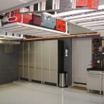 : Garage storage solutions also garage tool storage systems also hanging garage cabinets also small garage storage idea