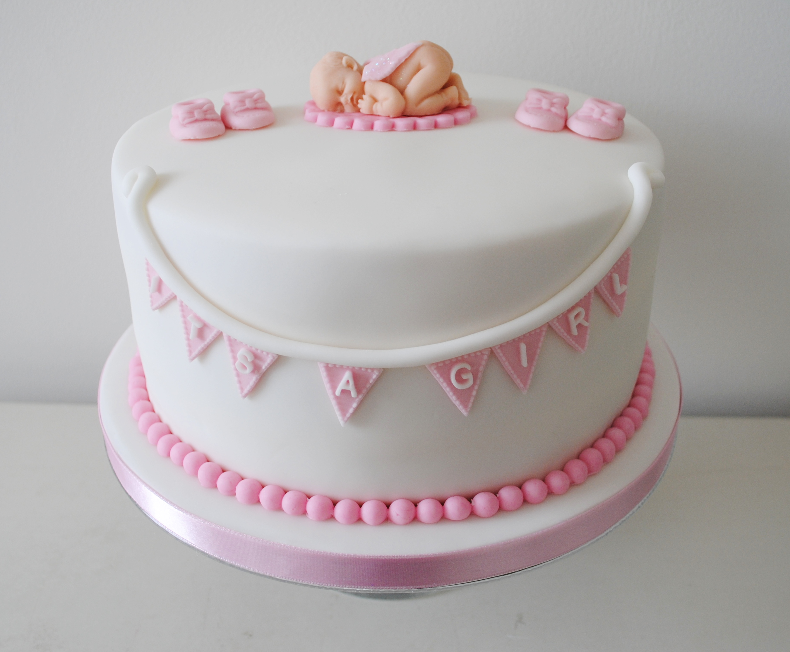 Girl baby shower cakes be equipped baby shower icing decorations be equipped cake for shower party
