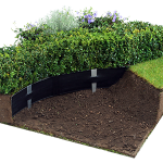 : Landscape edging also decorative stone garden edging also flexible flower bed edging