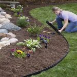 : Landscape edging also edging for flowerbeds also rigid lawn edging also black yard edging