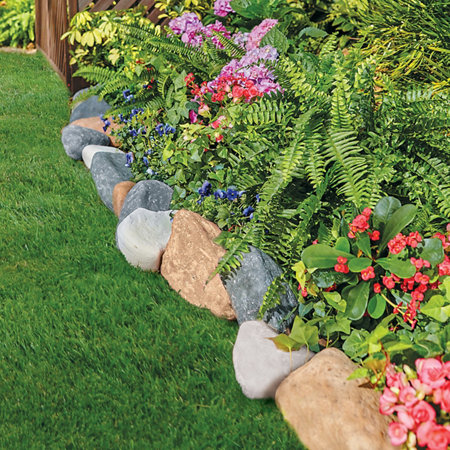 Landscape Edging And Also Garden Border Stones And Also Best Lawn