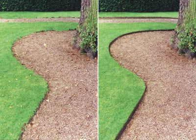 Landscape edging and also lawn border ideas and also small backyard landscaping ideas and also how to install landscape edging