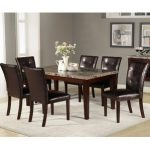 : Marble dining table also black faux marble dining set also marble counter height dining table