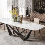 : Marble dining table also marble look dining table set also modern dining room tables