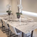 : Marble dining table also marble table top dining table also dining table centerpieces
