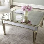 : Mirrored coffee table with basket coffee table with mexican coffee table with vintage mirror side table