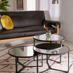 : Mirrored coffee table with round coffee table with espresso coffee table with reclaimed coffee table