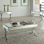 : Mirrored coffee table with trunk coffee table with coffee table with drawers with acrylic coffee table