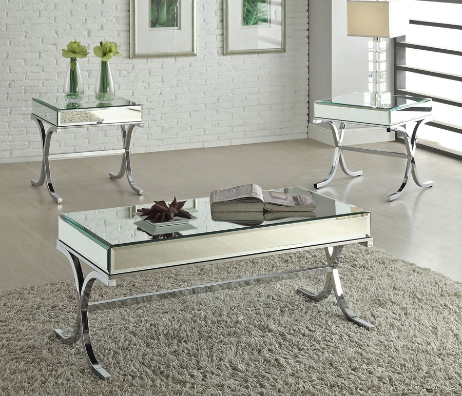 Mirrored Coffee Table with Cool Designs that Go beyond the Rules