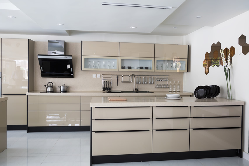Modern kitchen cabinets with modern cabinets with ...