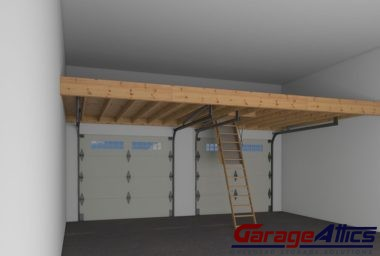 Overhead garage storage with garage doors with ceiling hanging storage with garage hanging storage ideas