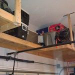 : Overhead garage storage with garage roof storage solutions with above garage storage ideas