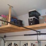 : Overhead garage storage with garage shelving racks with best garage storage shelves with ladder rack for garage