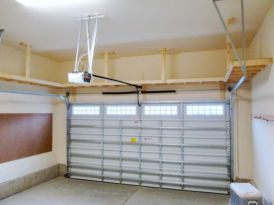 Overhead garage storage with garage shop shelving with retractable garage ceiling storage with small garage storage cabinet