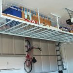 : Overhead garage storage with garage tote storage with garage organization solutions with garage organization cabinets