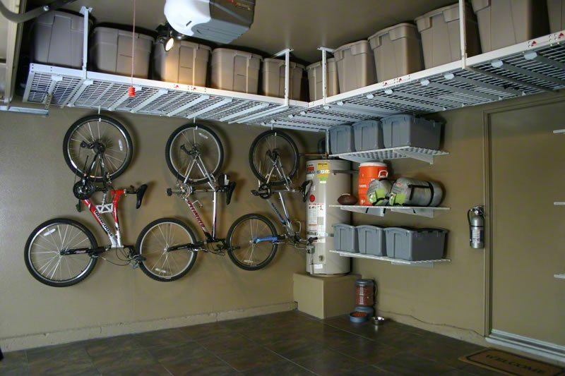 Overhead garage storage with overhead ceiling storage with garage storage shelving systems
