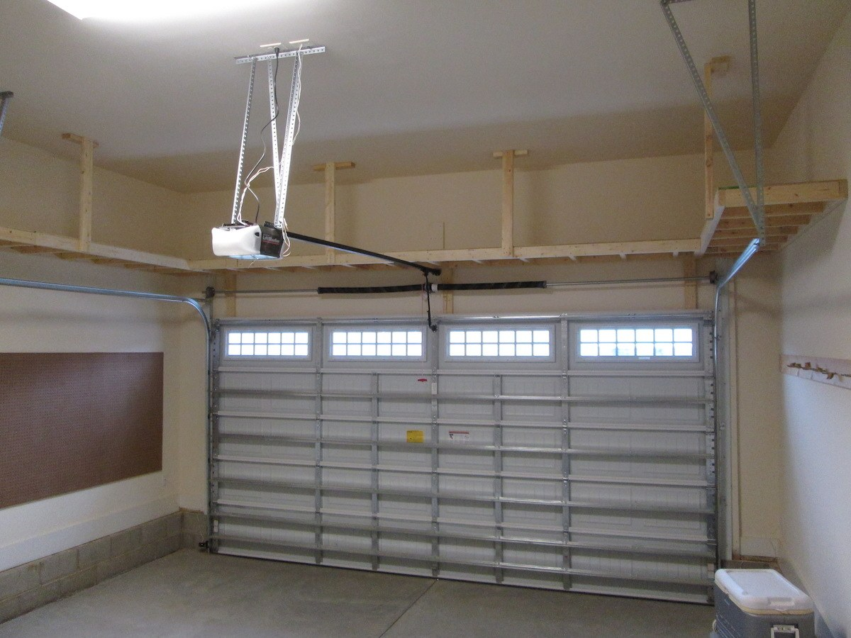 Overhead garage storage with overhead ladder storage with ceiling storage systems with garage storage hanging shelves