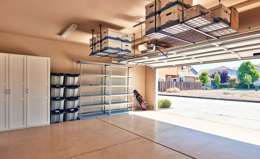 Overhead garage storage with overhead storage shelf with saferacks overhead garage storage with suspended storage