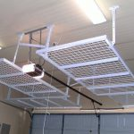 : Overhead garage storage with overhead tool storage with steel garage storage with garage hanging storage solutions