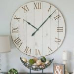 : Oversized wall clocks and also round wall clock and also large rustic wall clock and also large grey wall clock