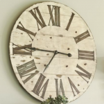 : Oversized wall clocks and also rustic clock and also large cream wall clock and also large black clock and also big kitchen clocks