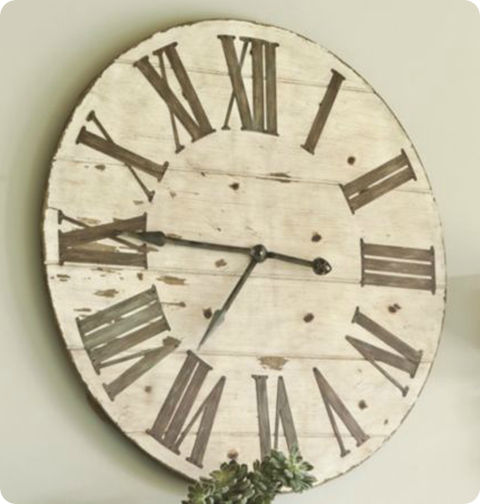Oversized wall clocks and also rustic clock and also large cream wall clock and also large black clock and also big kitchen clocks