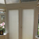 : Patio door blinds with pull down shades with replacement vertical blinds