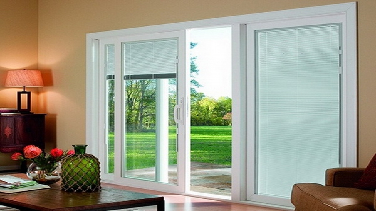 Patio door blinds with vertical blinds for bay windows with patio door window treatments