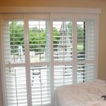 : Patio door blinds with vertical door blinds with roman shades for french doors